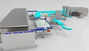 3D Rendered Conveyor Accumulation