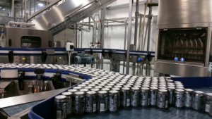 Accumulation on beer canning line