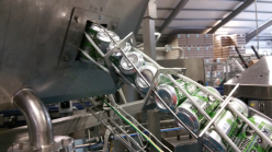 beer canning line can twist rinser