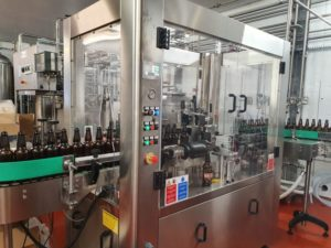 In-line 3 station self adhesive labeller